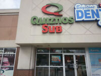 Famous Quiznos Sub location in Barrie on Sale