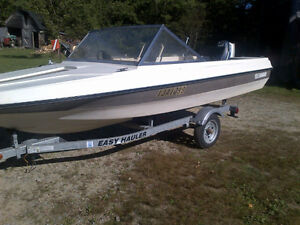 Boat, trailer and engine