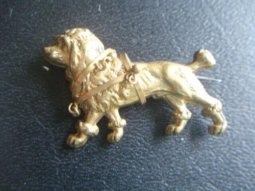 Victorian Gold Gilt Working Dog Brooch