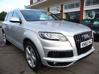 AUDI Q7 3.0 TDI QUATTRO S LINE 5d AUTO 240 BHP LOVELY LOW (silver) 2010