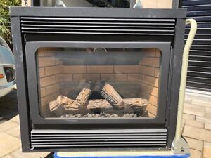 Gas Fireplace (B-vent, with venting and exterior hood)
