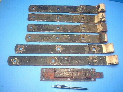 ANTIQUE GATE HINGES AND LATCH