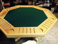 Oak Poker Table