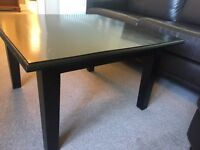 COFFEE TABLE Square Oak, Ebony stained, Medium size
