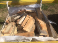 FIREWOOD , OFF CUTS , REDWOOD/SOFTWOOD MIX , 1 CUBIC METER SQUARE BAG (BUILDERS BAG) £20.00 PER BAG