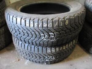 225/60 R18 FIRESTONE WINTERFORCE WINTER TIRES USED SNOW TIRES (SET OF 2) - APPROX. 80% TREAD