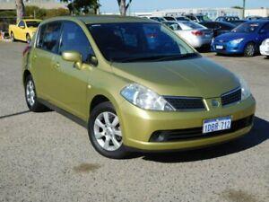 2009 Nissan Tiida C11 MY07 ST-L Green 6 Speed Manual Hatchback Wangara Wanneroo Area Preview