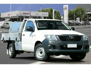 2015 Toyota Hilux TGN16R MY14 Workmate 4x2 Glacier White 5 Speed Manual Cab Chassis Adelaide CBD Adelaide City Preview