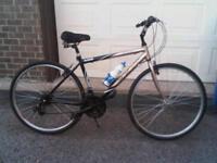 Vélo hybride 21 vit. gripshift cadre moyen alum. selle à susp.
