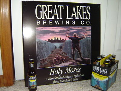 Vintage HOLY MOSES Beer Sign Belgian Styled Ale Cleveland OH