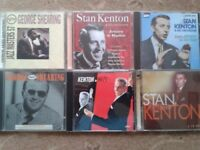 A collection of CDs by Stan Kenton and George Shearing