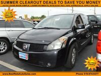 2005 Nissan Quest 3.5 S Minivan for 7 PASSENGERS, 3rd ROW SEATS
