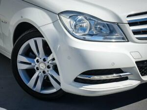 2012 Mercedes-Benz C-Class W204 MY12 White 7 Speed Sports Automatic Sedan Canning Vale Canning Area Preview