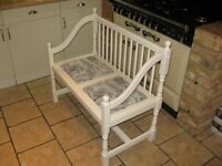 White twin seat, French style covering