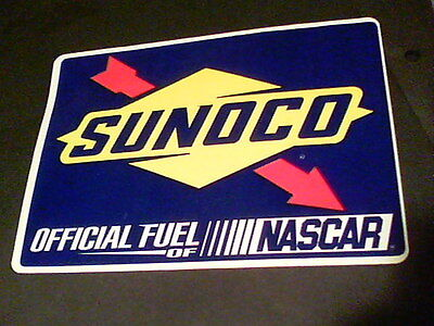 Sunoco official fuel of NASCAR sticker 6 1/2 by 4 3/4 inches tall   s12