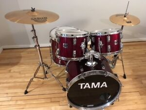 NEW PRICE + PIECES 80's Tama Swingstar shell pack, Sabian cymbal