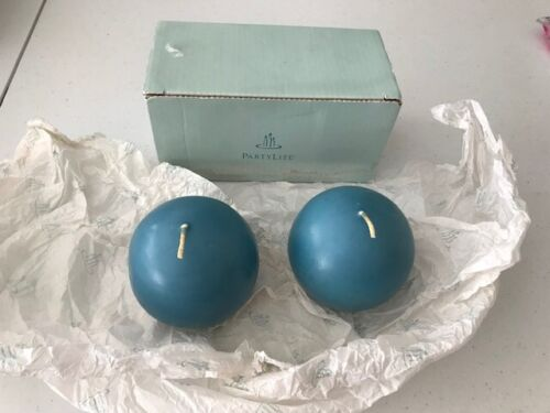 """PARTYLITE Woodland Hills 3"""" Round Ball Candles #Q38592 Displayed Box of 2"""