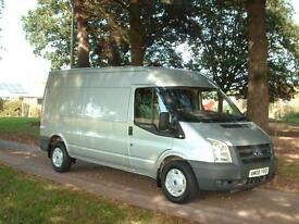 Ford Transit 2.4TDCi T350 100ps lwb med roof air con silver 1 owner