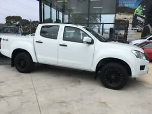2014 Isuzu D-MAX TF MY15 SX (4x4) White 5 Speed Automatic Crew Cab Utility Tuncurry Great Lakes Area Preview