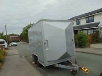 Reduced LYNTON TWIN AXLE BOX TRAILER inc EXTENDING CANOPY - IDEAL for MARKET or CAR BOOT TRADERS