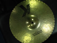 Zildjian K mastersound bottom 14inch hi-hat cymbal plus free Sabian 17 AAX cracked crash