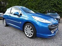 Peugeot 207 THP Sport XS 150, in Stunning Electric Blue, Full Leather, Long MOT, Gorgeous Car