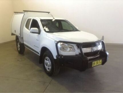 2013 Holden Colorado RG LX (4x4) White 5 Speed Manual Spacecab