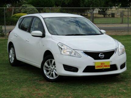 2014 Nissan Pulsar C12 ST White 1 Speed Constant Variable Hatchback Strathalbyn Alexandrina Area Preview