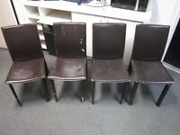 Set of 4 chairs .Fair condition . £5 for the set .