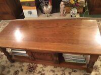 Old Charm, Dark Oak Coffee Table/TV Stand