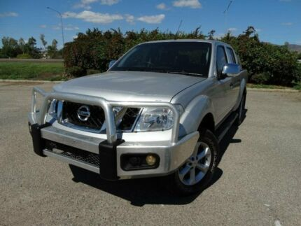 2010 Nissan Navara D40 Series 4 ST-X (4x4) Silver Lightning 6 Speed Manual Utility Vincent Townsville City Preview