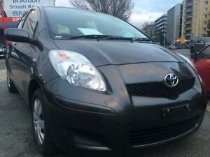 2011 Toyota Yaris NCP130R YR Charcoal 5 Speed Manual Hatchback Braddon North Canberra Preview