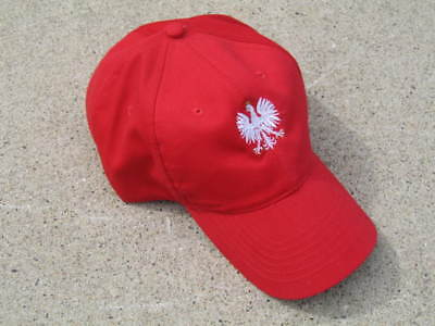 POLAND/POLSKA Fan hat/cap, new with tag, great for kibitzers, embroidery Eagle