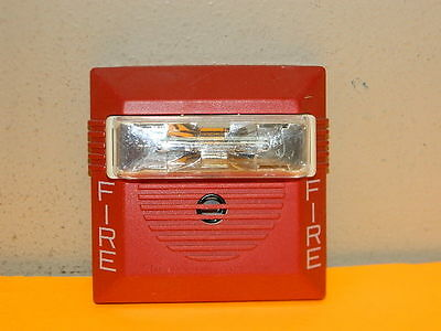 Cooper Wheelock Ns-24mcw Fire Alarm Strobe Horn 24 Vdc Wall Red 153075110cd