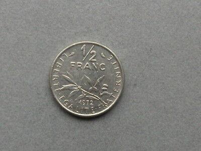 Frankreich 1/2 Franc   1972