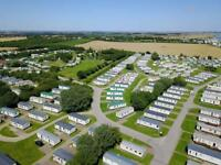 Cheap static caravan sited for sale on Yorkshire 12 month holiday park