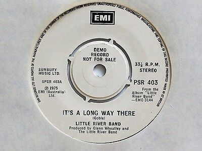 """LITTLE RIVER BAND - IT'S A LONG WAY THERE + 2 TRACKS - 7"""" VINYL - EMI DEMO E.P."""