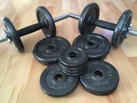 30kg dumbbell set in EXCELLENT CONDITION