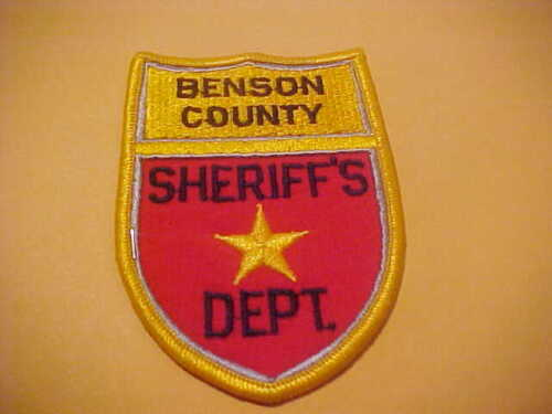 BENSON COUNTY NORTH  DAKOTA POLICE PATCH  SHOULDER SIZE NEW TYPE 1