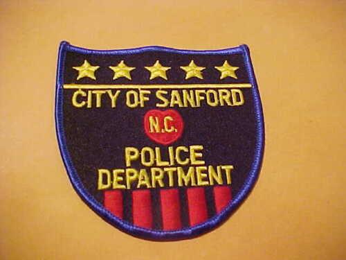 SANFORD NORTH CAROLINA POLICE PATCH SHOULDER SIZE UNUSED