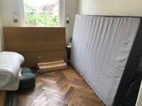 Already dismantled- IKEA MALM high double bed + HÖVÅG mattress - Colour oak