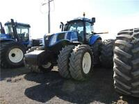 2014 NEW HOLLAND T8.360 CVT, 360 PEAK HP MFWD GRAIN CART UNIT