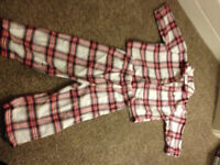 WHITE COMPANY Kids Tartan Pyjamas jammies 12-18 months (worth £26)