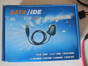USB to IDE or SATA cable