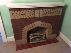 Vintage decorative fireplace
