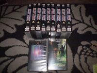 STAR TREK 11 VHS TAPES ,3 /4 EPISODES PER TAPE + NEMESIS + OTHERS