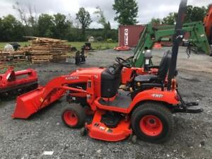 KUBOTA BX2670 W/LOADER, FRONT BLOWER AND MOWER
