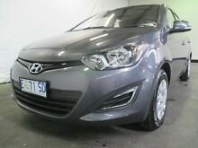 2015 Hyundai i20 PB MY14 Active Grey 4 Speed Automatic Hatchback Invermay Launceston Area Preview