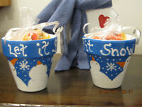"Adorable "" SNOWMEN CANDY BOWLS """
