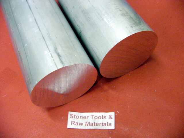 """2 pieces 1-1/8"""" ALUMINUM 6061 ROUND ROD 36"""" long T6511 Solid Extruded Bar Stock"""